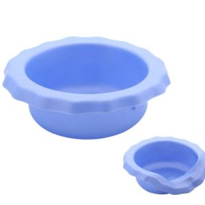 Portable silicone rubber dog bowl good to take with you for dog walks, size 0.35 liters